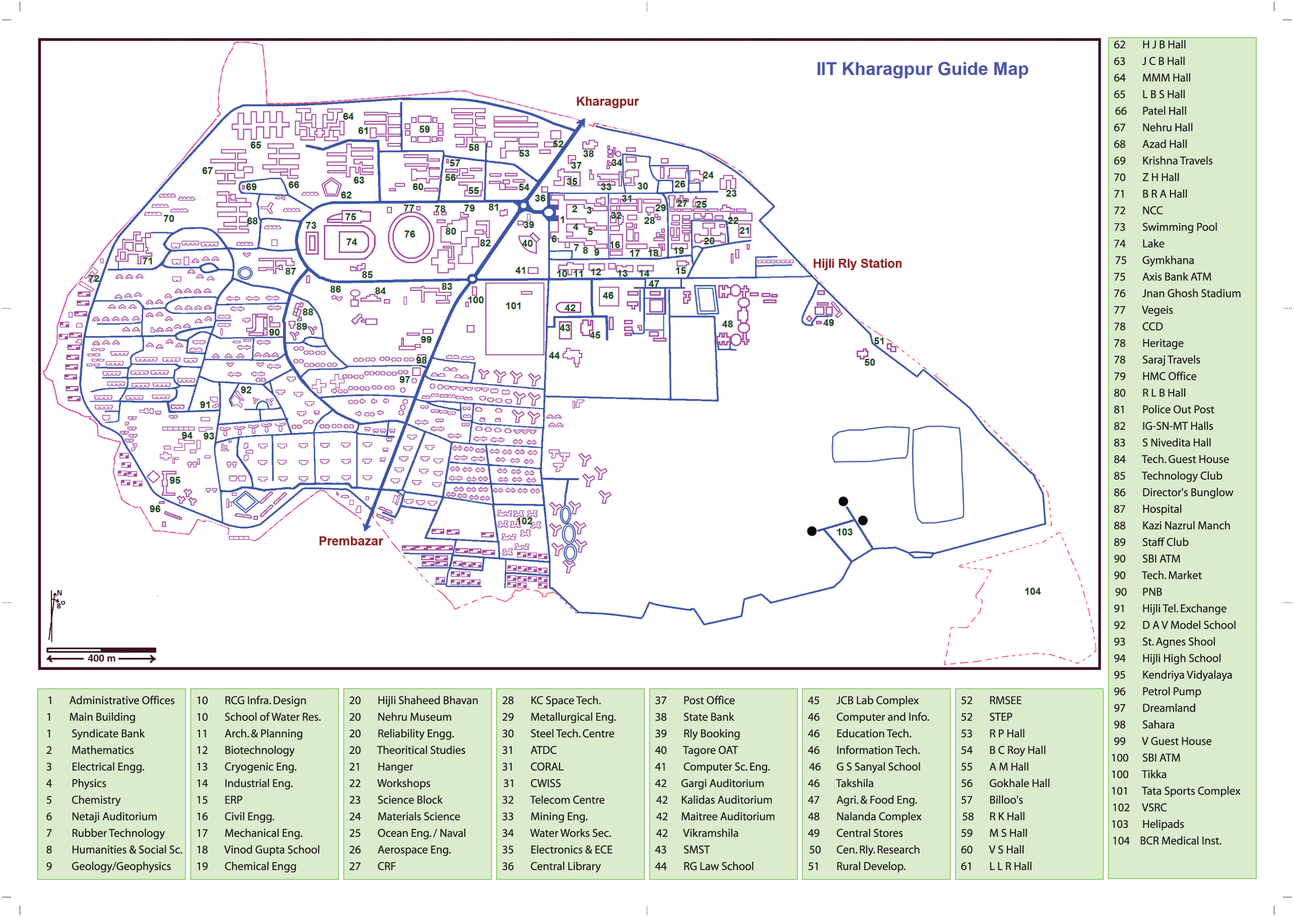 Indian institute of technology kharagpur - Campus Map